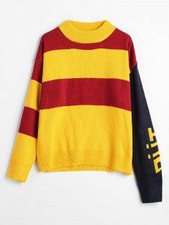 Wide Stripe Tricolor Sweater - Multi