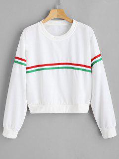 Pullover Sweatshirt With Drop Shoulder - White S