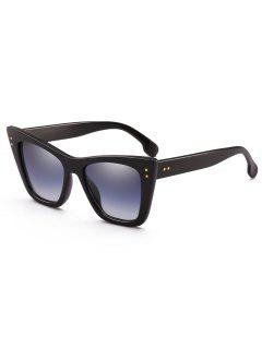 Unique Rivets Inlaid Sun Shades Sunglasses - Black