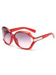 Gafas De Sol De Gran Tamaño Contra Rayos Ultravioletas - Rojo