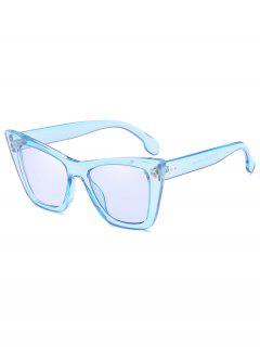 Unique Rivets Inlaid Sun Shades Sunglasses - Light Sky Blue