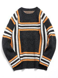 Soft Square Knitted Sweater - Black Xl