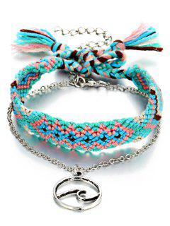 Boho Knitted Ankle Bracelet - Deep Sky Blue