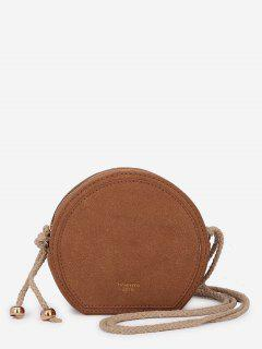 Minimalist Solid Color Crossbody Bag - Brown