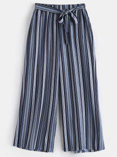 Striped Plus Size Wide Leg Pants - Multi 3x