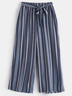Striped Plus Size Wide Leg Pants - Multi 4x