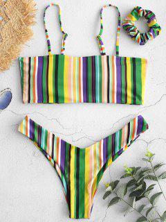 ZAFUL Bikini Cami Rayé Coloré Avec Bandeau - Multi-a M