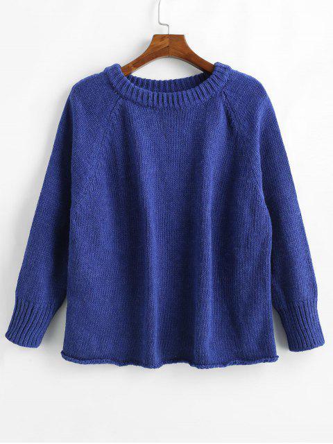 Suéter de manga raglán suelta - Azul Cobalto S Mobile