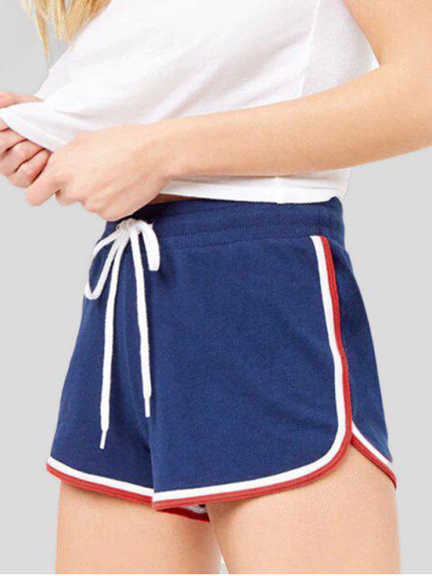 Short de sport à rayures à cordon - Bleu M Mobile
