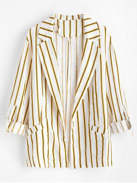 buy Lightweight Striped Two Pocket Woven Blazer - MULTI M Mobile