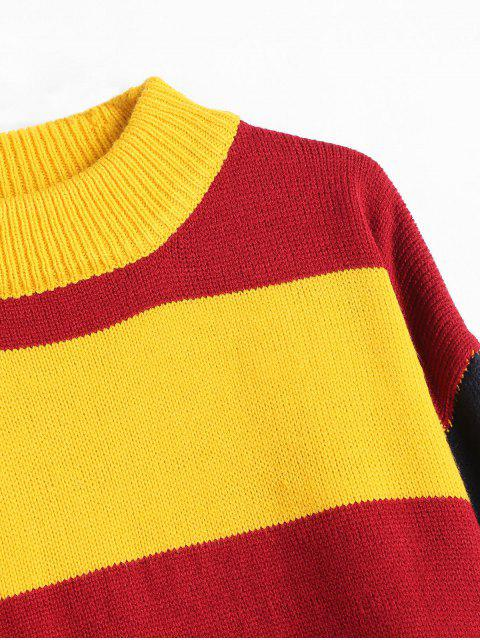 new Wide Stripe Tricolor Sweater - MULTI ONE SIZE Mobile
