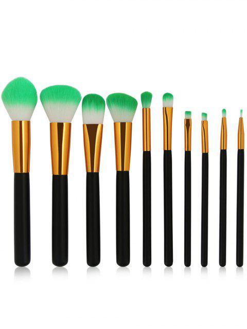 shop Cosmetic 10Pcs Soften Silky Travel Makeup Brush Suit - BLACK  Mobile