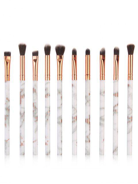 shops 10Pcs Marbles Handles Eyeshadow Blending Eye Makeup Brush Set - PLATINUM  Mobile