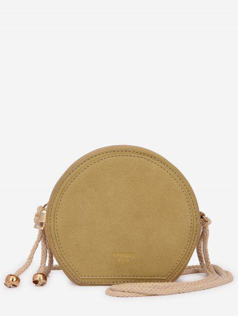 best Minimalist Solid Color Crossbody Bag - LIGHT KHAKI  Mobile