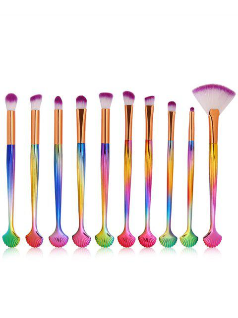 outfit Cosmetic Shell Shaped Ultra Soft Eyeshadow Blending Fan Brush Set - MULTI  Mobile
