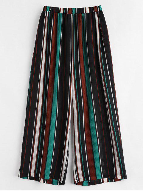 Pantalon Rayé Semi-Transparent de Grande Taille - Multi 1X Mobile