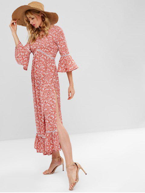 ZAFUL Vestido Maxi de Chá com estampa floral - Multi M Mobile