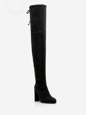 High Heel Kordelzug über die Knie Stiefel