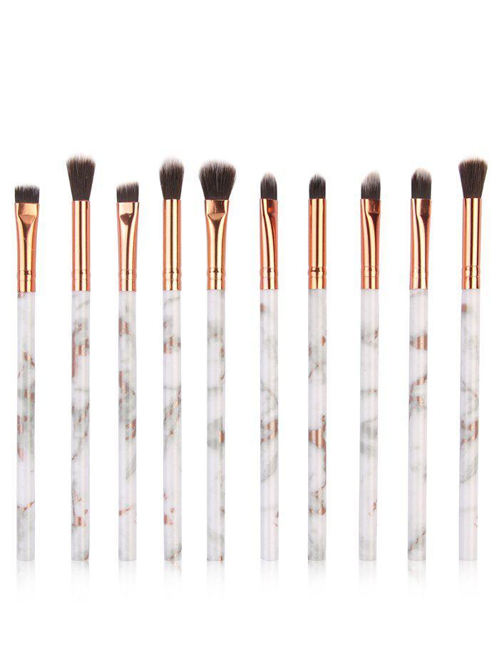 10Pcs Marbles Handles Eyeshadow Blending Eye Makeup Brush Set