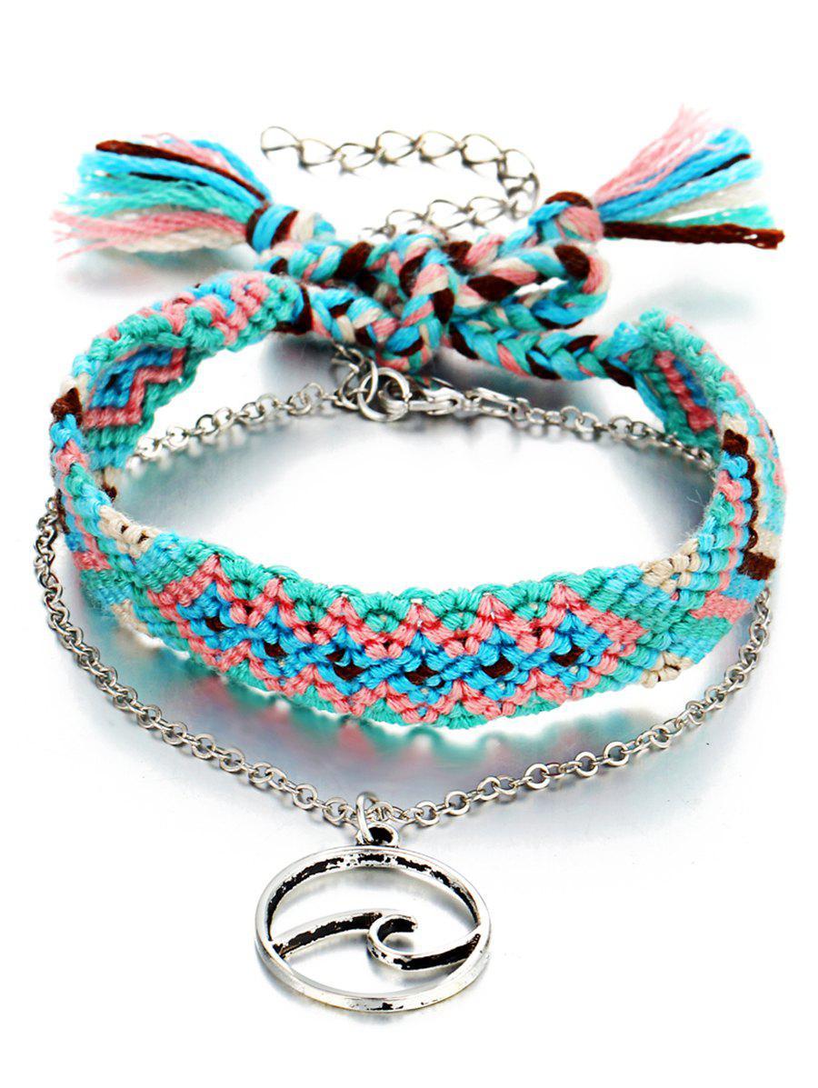 Boho Knitted Ankle Bracelet