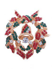 عيد الميلاد الجرس حجر الراين مطعمة بروش - متعدد