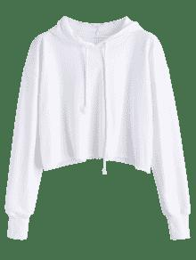2a3e89ab81932 HOT  2019 Oversized Raw Cut Cropped Hoodie In WHITE S
