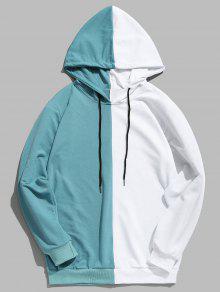هو خليط عارضة هوديي المرقعة - ماكاو الأزرق الأخضر 2xl