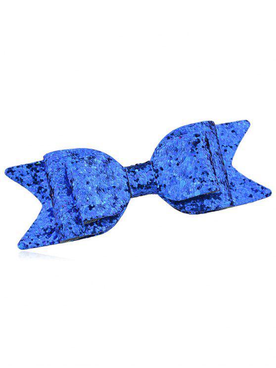 Sparkly Bowknot Elegant Barrette - Azul