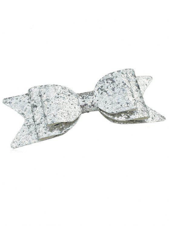 Forcella Da Cappelli Scintillante A Forma Di Fiocco - Argento