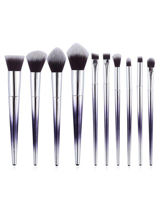 outfits Cosmetic 10Pcs Cone Shaped Handles Ultra Soft Makeup Brush Set - MULTI