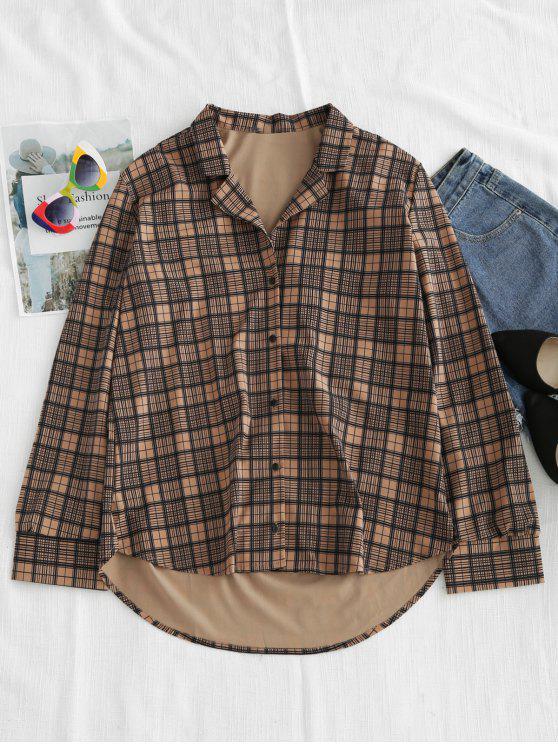 Camisa casual a cuadros - Multicolor L