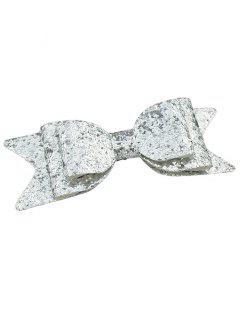 Sparkly Bowknot Barrette élégante - Argent