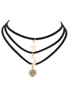 Collier Multi-couches Sun Star Sun Choker - Or