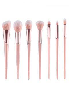 7Pcs Pink Handles Ultra Soft Blush Powder Eyeshadow Brush Suit - Light Pink