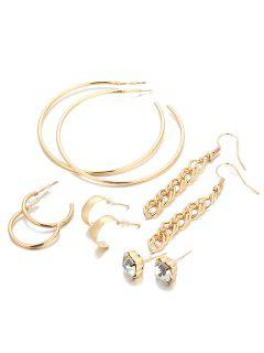 Unique Rhinestone Infinity Alloy Earrings Suit - Gold