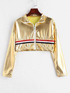Solid Color Short Jacket - Orange Gold Xl