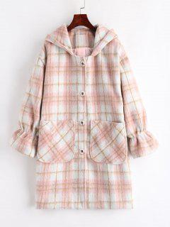 Plaid Hooded Coat - Multi M