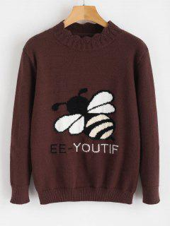 Bee Graphic Knitwear - Coffee