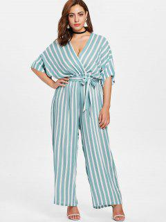 Plus Size Striped Jumpsuit - Multi 1x