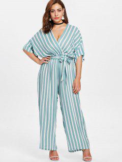Plus Size Striped Jumpsuit - Multi 2x