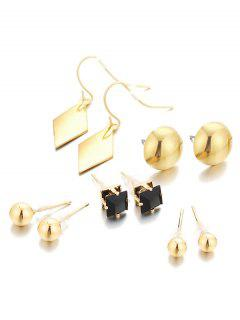 Unique Geometric Alloy Earrings Suit - Gold