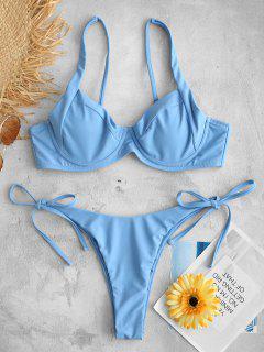 ZAFUL - Bikini-Set Mit Seitlichen Bügeln - Denim Blau S