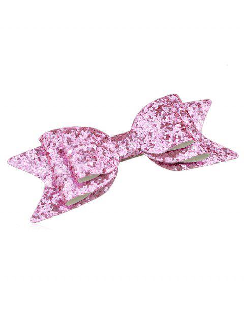Sparkly Bowknot Elegant Barrette - Pastel Rosa  Mobile
