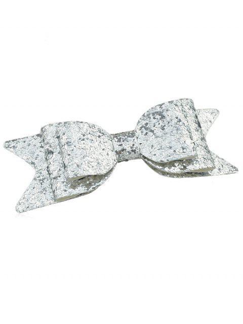 Sparkly Bowknot Elegant Barrette - Plata  Mobile