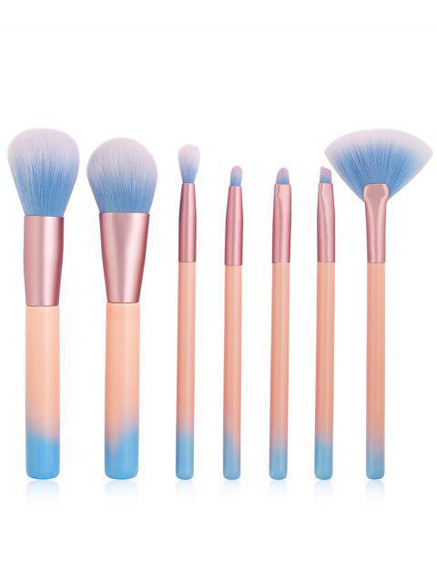 Eensemble de Brosse Professionnelle Extra Douce en Fibre Ultra Douce Pour Ombre à Paupière 7 Pièces - Rose Léger   Mobile