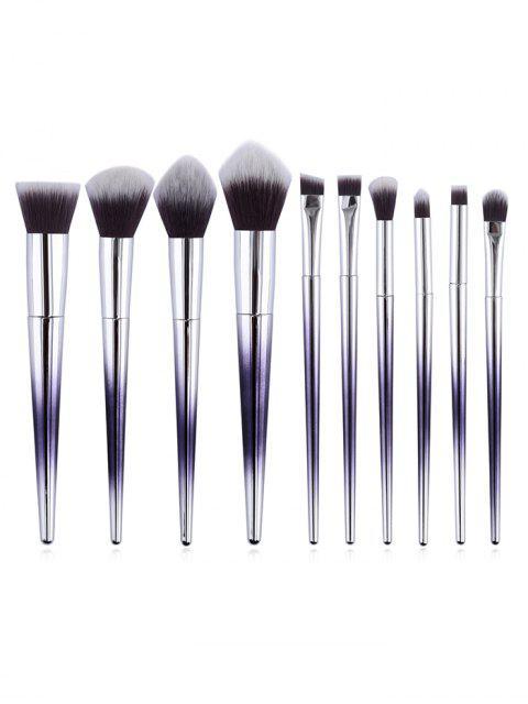 Eensemble de Brosse de Maquillage en Fibre Synthétique avec Manche en Forme de Cône en Rose 10 Pièces - Multi  Mobile
