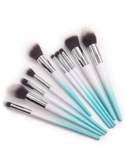 shops 10 Piece Fiber Hair Eyeshadow Powder Blush Travel Makeup Brush Set - MULTI  Mobile