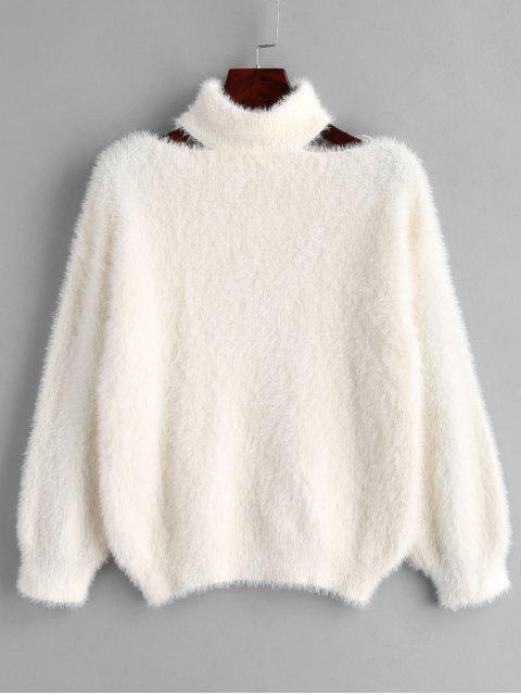 Pullover Flauschiger Pullover - Weiß Eine Größe Mobile