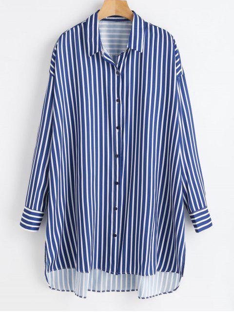 Camisa de rayas largas con rayas bajas - Multicolor M Mobile