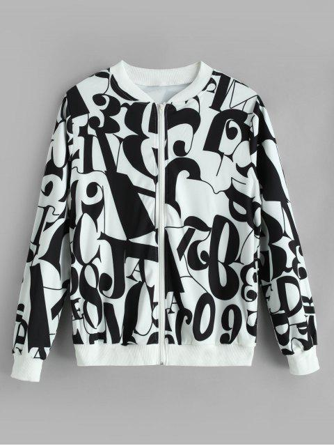 unique Zip Up Figure Graphic Jacket - MULTI-A L Mobile